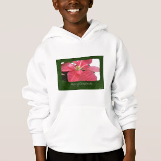 Pink Poinsettias 2 - Merry Christmas Hoodie
