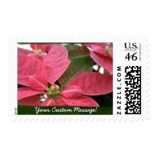 Pink Poinsettias 3 Postage
