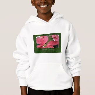 Pink Poinsettias 3 - Seasons Greetings Hoodie