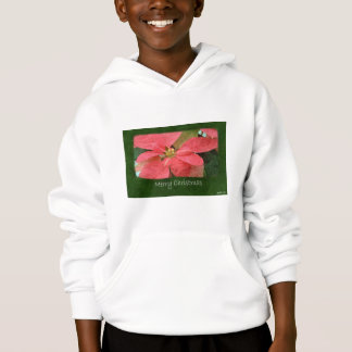 Pink Poinsettias 5 - Merry Christmas Hoodie