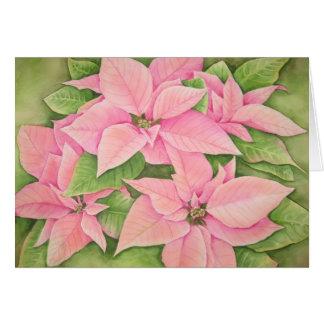Pink Poinsettias Card