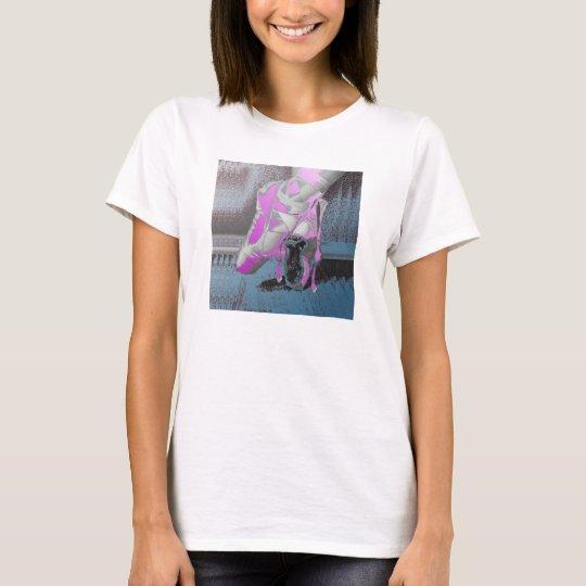 Pink Pointe Ballet Shoe Tank Shirt