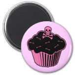Pink Poison Cupcake 2 Inch Round Magnet