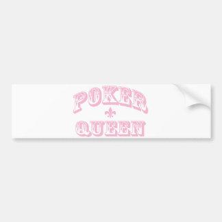 Pink Poker Queen Car Bumper Sticker