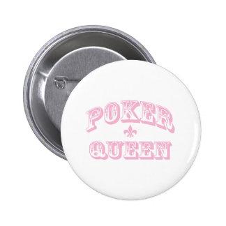 Pink Poker Queen Pinback Buttons
