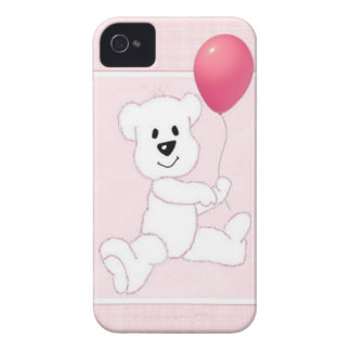Pink Polar Bear Cub iPhone 4 Barely There Case