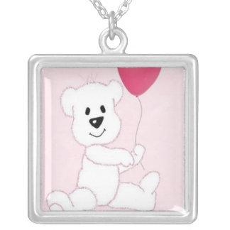 Pink Polar Bear Cub Necklace