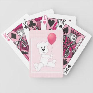 Pink Polar Bear Cub Playing Cards