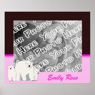 Pink Polar Bears Poster