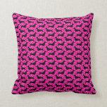 Pink Polka Dachshund Throw Pillow