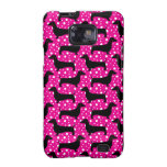 Pink Polka Dachshunds Galaxy SII Covers