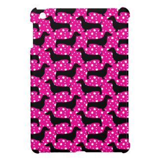 Pink Polka Dachshunds iPad Mini Covers