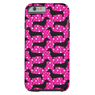 Pink Polka Dachshunds iPhone 6 Case