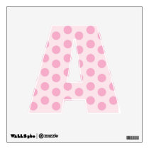 Pink Polka Dot Alphabet Letter Wall Decal