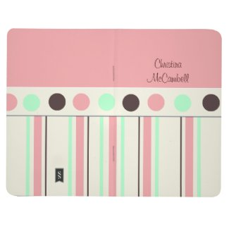 Pink Polka Dot and Stripe Journal