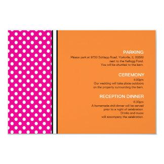 Pink Polka Dot and Tangerine Enclosure Card