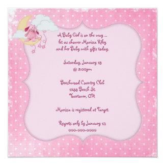 Pink Polka Dot Baby Shower Card
