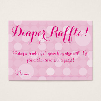 Pink Polka Dot Baby Shower Diaper Raffle Tickets