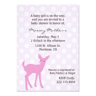 Pink Polka Dot Baby Shower Invitation