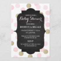 Pink Polka Dot Baby Shower Invitation ~ Girl