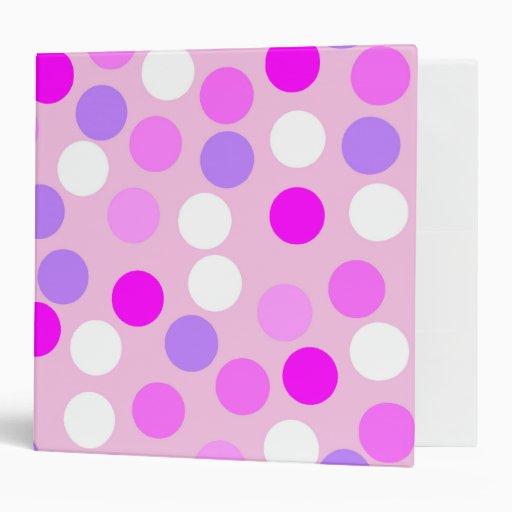Pink Polka Dot Binder