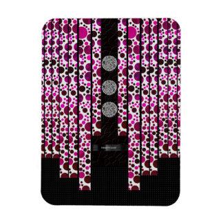 Pink Polka-dot Bling Magnet