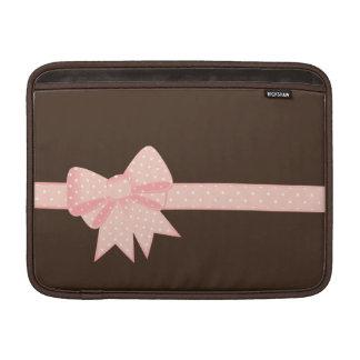 Pink Polka Dot Bow Sleeve For MacBook Air