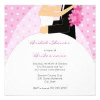 Pink Polka Dot Bridal Shower Invitations