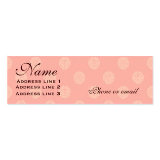 Pink Polka Dot Business or Name Card Double-Sided Mini Business Cards (Pack Of 20)