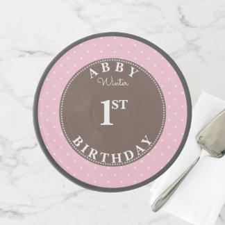 Pink Polka Dot Cake Smash First Birthday Elegant Cake Stand