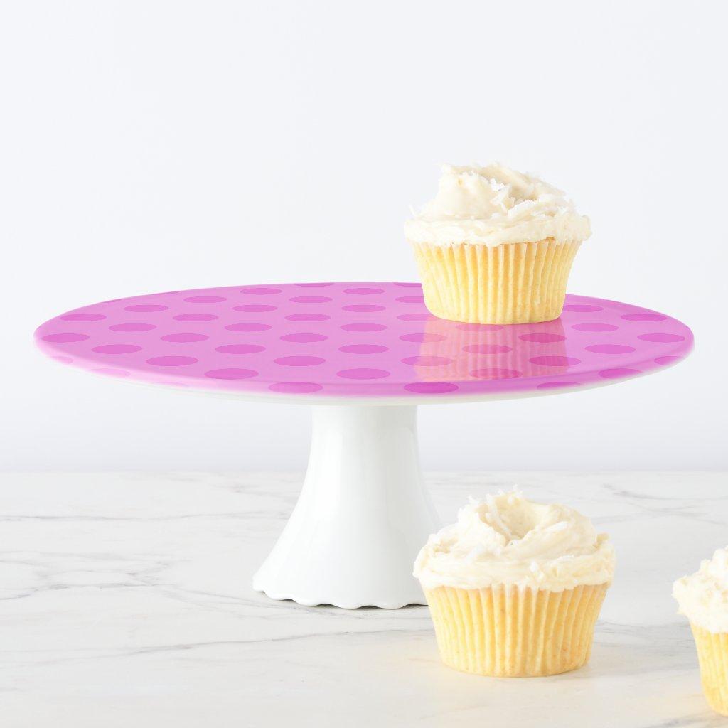 Pink Polka Dot Cake Stand
