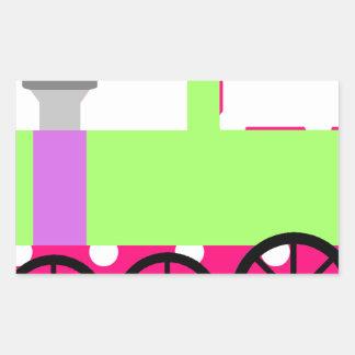 Pink Polka Dot Choo Choo Train Stickers