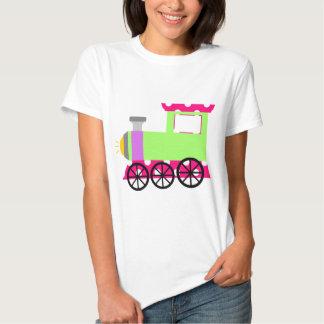 Pink Polka Dot Choo Choo Train Tee Shirt
