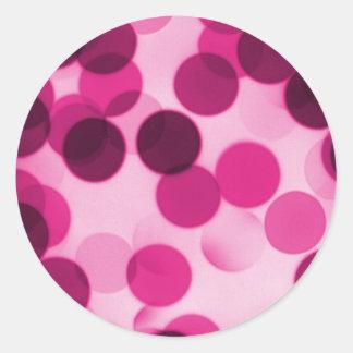 Pink Polka Dot Classic Round Sticker