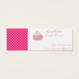 Pink Polka-Dot Cupcakes Mini Business Card