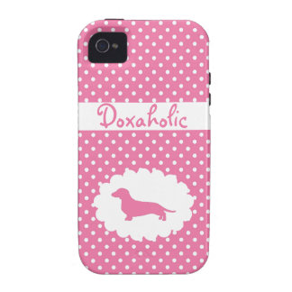 Pink Polka Dot Doxaholic Case-Mate iPhone 4 Cases