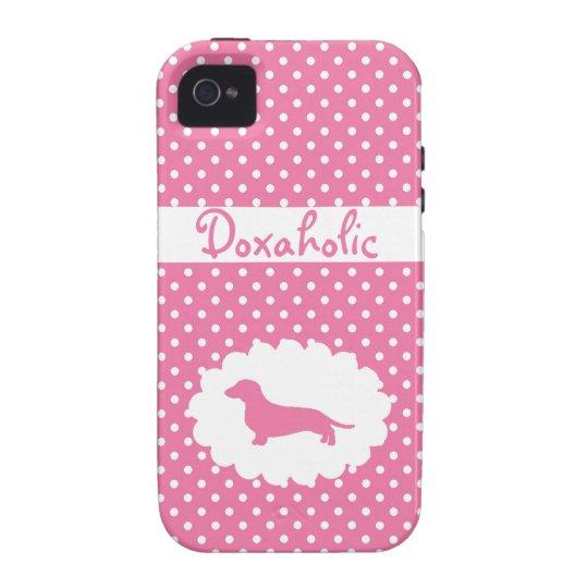 Pink Polka Dot Doxaholic iPhone 4 Case