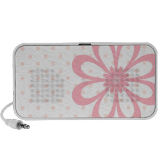 Pink Polka Dot Flower Doodle Speaker