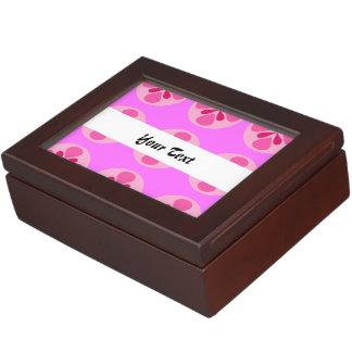 Pink polka dot geometric seamless pattern memory boxes