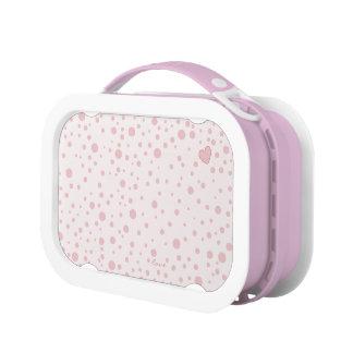 Pink Polka Dot Heart Lunch Box