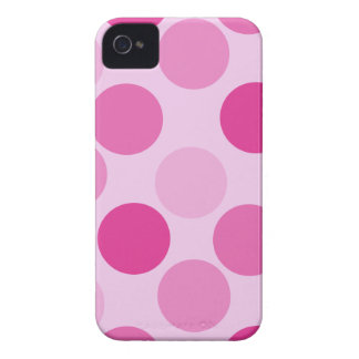 Pink Polka Dot iPhone 4G Barely There Case-Mate Ca Case-Mate iPhone 4 Case