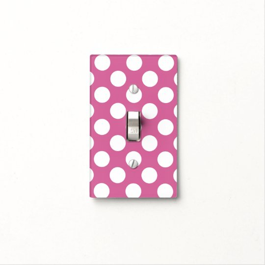 Pink Polka Dot Light Switch Cover Zazzlecom