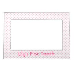Pink Polka Dot Magnetic Frame
