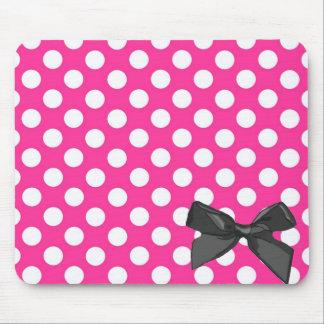 Pink Polka Dot Mouse Pad
