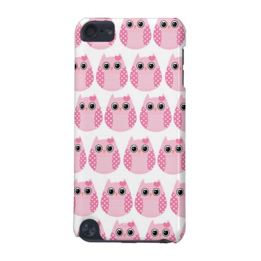 Pink Polka Dot Owls iPod Touch 5G Cases