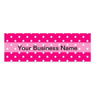 Pink polka dot pattern Double-Sided mini business cards (Pack of 20)