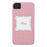 Pink Polka Dot Pattern Case-Mate iPhone 4 Case