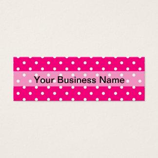 Pink polka dot pattern mini business card