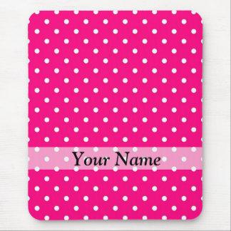 Pink polka dot pattern mousepads