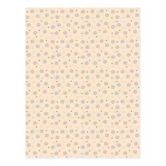 Pink Polka Dot Pattern Postcard